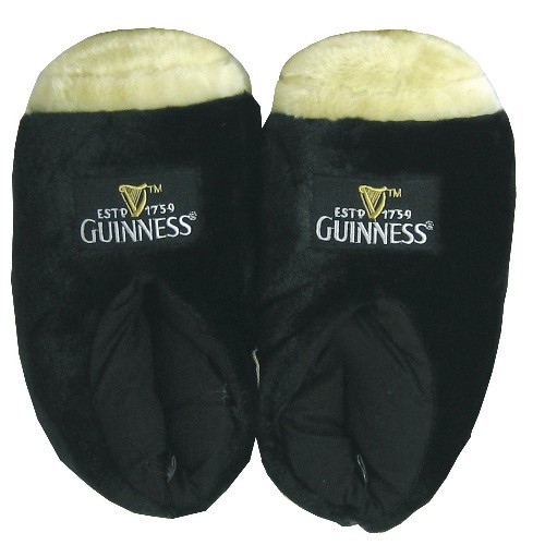 Guinness Giant Pint Slippers (fits up to size 10 (UK)
