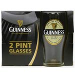 Guinness Label Pint Glasses (2 pack)