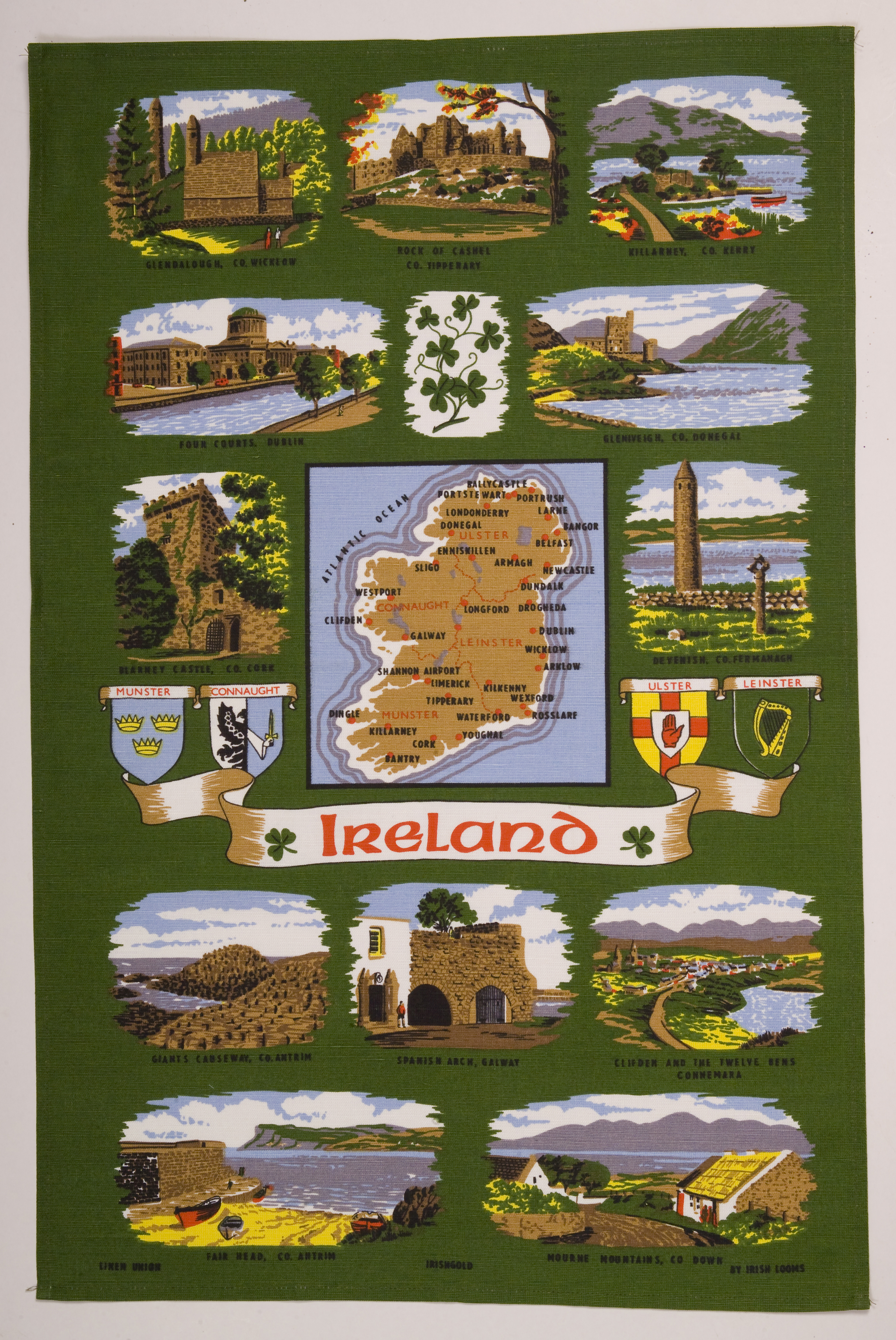 Ireland Map Tea Towel