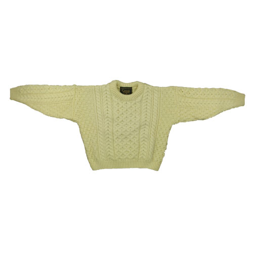 Kids knitted Aran Wooly Sweater - Click Image to Close
