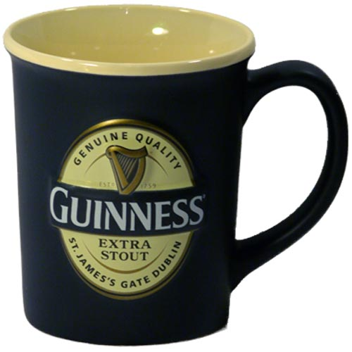 Guinness Label Coffee Mug - Jumbo size - Click Image to Close