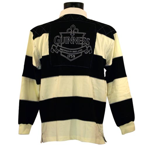 Guinness Cream and Black Rugby Shirt - Click Image to Close