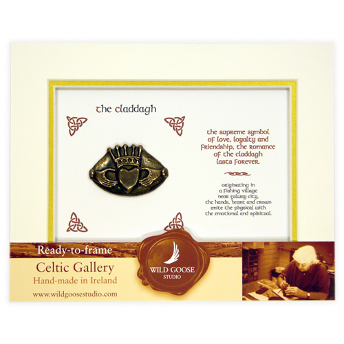 Framed Claddagh – Wild Goose Studio - Click Image to Close
