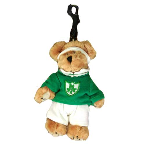 Irish Rugby Soft Toy for Backpack - Click Image to Close