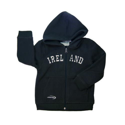 Kids green hooded Ireland fleece - Click Image to Close