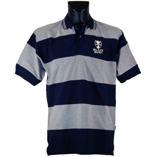 Grey and Navy Black Bush polo shirt - Click Image to Close