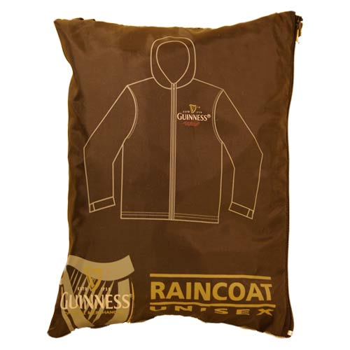 Unisex Guinness rain jacket in a zipper pouch - Click Image to Close
