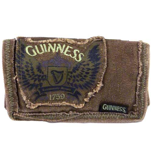 Guinness Wings Canvas Wallet Brown - Click Image to Close