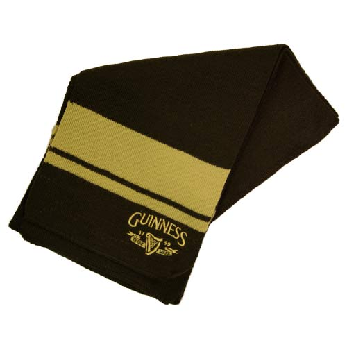Guinness Harp Knit Scarf - Click Image to Close