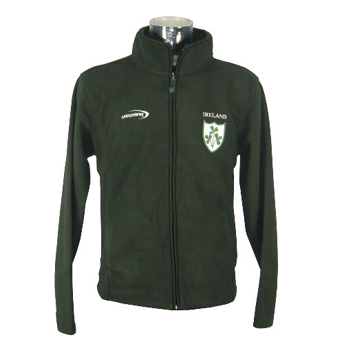 Ireland Fleece with Shamrock Badge - Click Image to Close