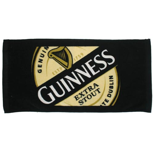 Guinness Label Bar Towel - Click Image to Close