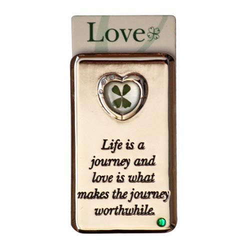 Lucky Irish fridge magnet – Life is a journey... - Click Image to Close