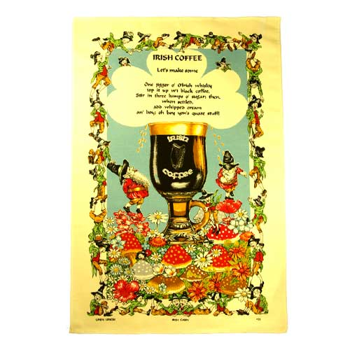 Irish Coffee tea towel - Click Image to Close