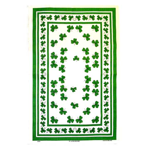 Shamrocks tea towel - Click Image to Close