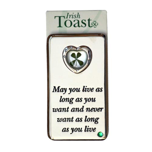 Lucky Irish fridge magnet – May you live as long... - Click Image to Close
