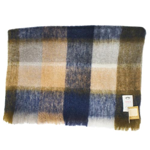 Multi coloured Mohair Throw - M50 - Click Image to Close