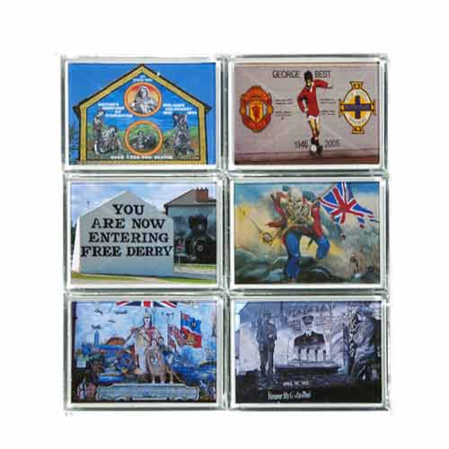 Northern Ireland six pack wall mural magnets - Click Image to Close