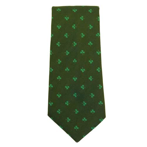 Shamrock - Green - Irish Neck Tie - Click Image to Close