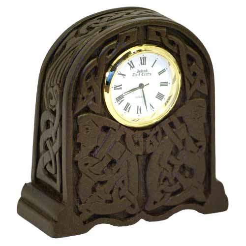 Newgrange Celtic Clock - Turf sculpted - Click Image to Close
