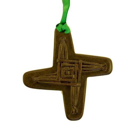 St Brigids Cross - Irish turf christmas tree decoration - Click Image to Close