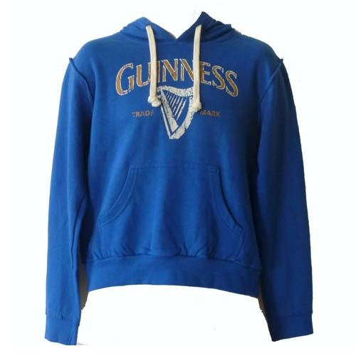 Guinness Harp Unisex Hoodie - Royal Blue - Click Image to Close