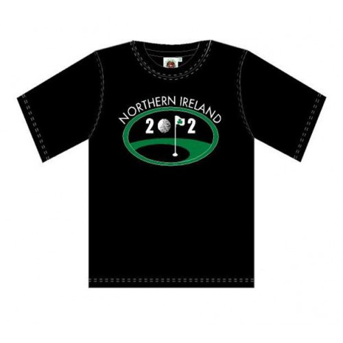Northern Ireland T Shirt- Black - Click Image to Close