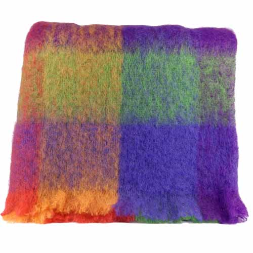 Multi Purple Mohair Throw - M212 - Click Image to Close