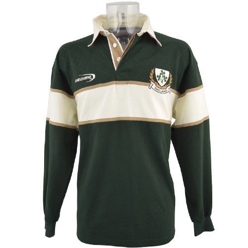 Three Shamrocks rugby shirt - Click Image to Close