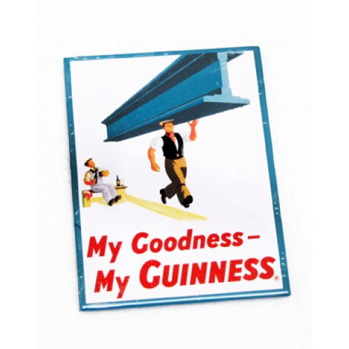 Guinness Fridge Magnet - Workers - Click Image to Close