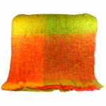 Yellow and orange Mohair Throw - M147