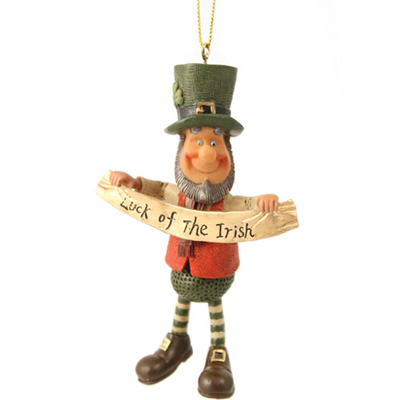 "Luck of the Irish pendant – Finnians Irish Figurines (4.5"" high)"