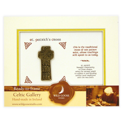 Framed St Patricks Cross – Wild Goose Studio