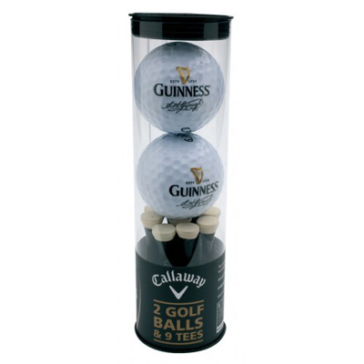 2 Guinness golf balls and 9 Guinness tees