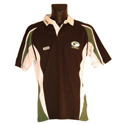 Black & Green Mesh Guinness Rugby Shirt