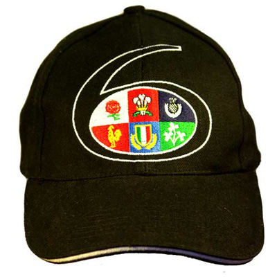 Black 6 Nations baseball cap