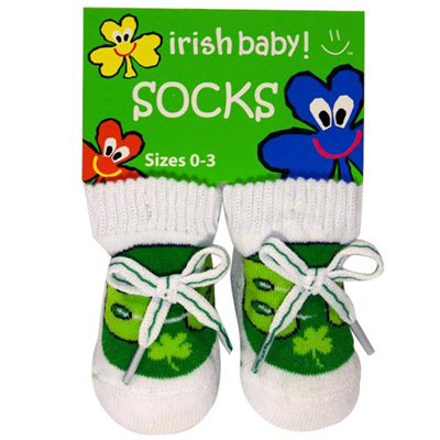 Irish baby socks