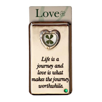 Lucky Irish fridge magnet – Life is a journey...