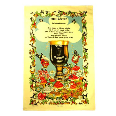 Irish Coffee tea towel