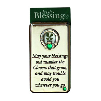 Lucky Irish fridge magnet – May your blessings...