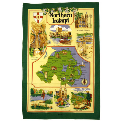 Northern Ireland tea-towel