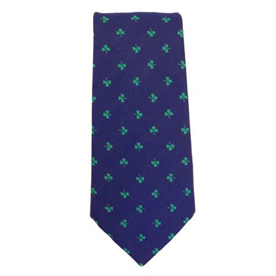 Shamrock - Blue - Irish Neck Tie