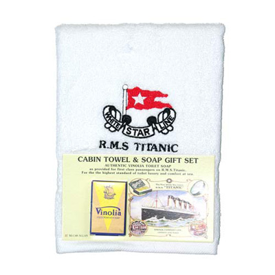 Titanic soap and cabin towel set