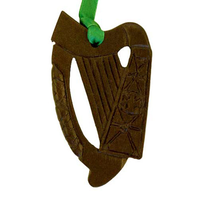 Harp - Irish turf christmas tree decoration