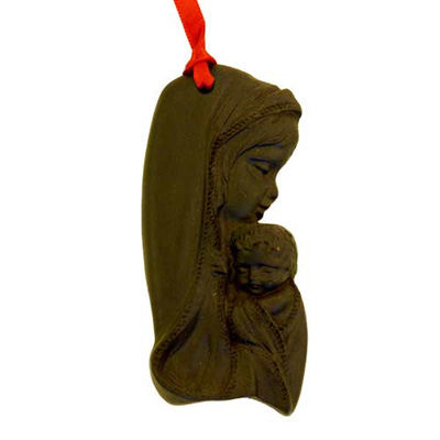 Madonna - Irish turf christmas tree decoration