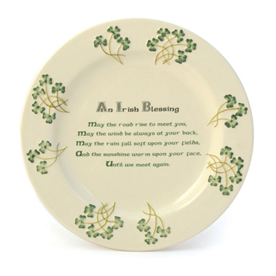 Watervale plate – Irish Blessing
