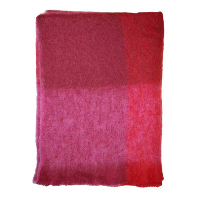 Deep Reds Mohair Throw - M185