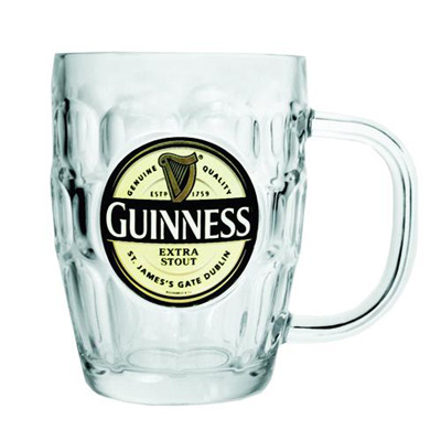 Glass Guinness Tankard (Dimple pint glass)