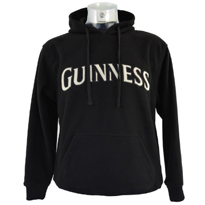 Black Guinness fleece hoodie