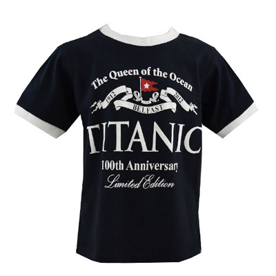 Navy Titanic kids T-shirt