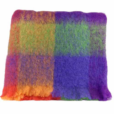 Multi Purple Mohair Throw - M212
